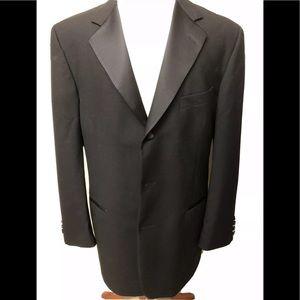 nordstrom tuxedo men's black wool size 42r
